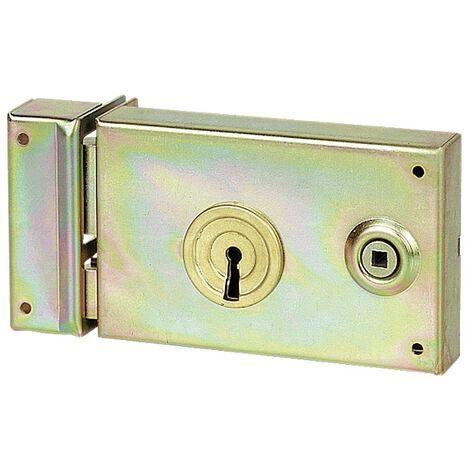 Serrures de portail en applique horizontales à fouillot à gorges 7487 main gauche