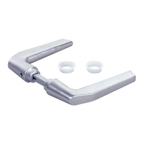 Béquille double en aluminium pour serrure de grille, 2 portées