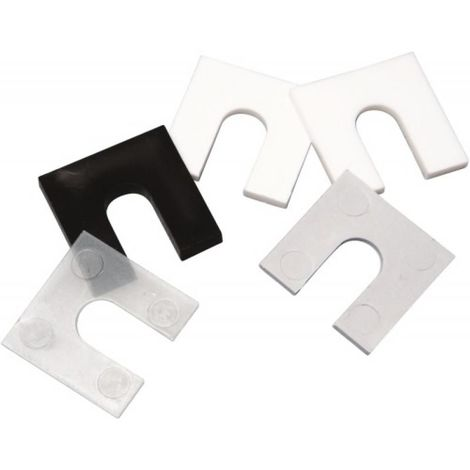 Cale plastique fourchette pour pose de menuiserie épaisseur 2 mm
