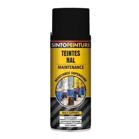 Peinture multi supports Sintopeinture Pro gris anthracite RAL 7016 brillant aérosol de 400 ml - Gris anthracite RAL 7016