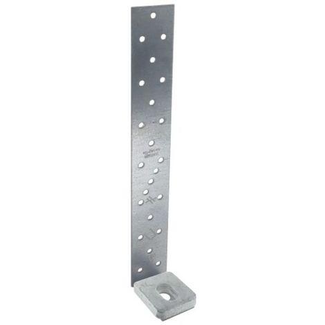 Ancrages pour montant d'ossature bois AH, largeur 40 mm x hauteur 490 mm x profondeur 50 mm avec rondelle 40 x 50 mm