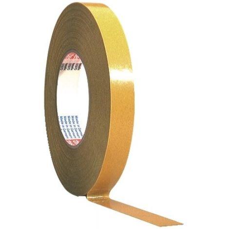 Adhésif double-face 51970, transparent, largeur 19 mm, rouleau de 50 m