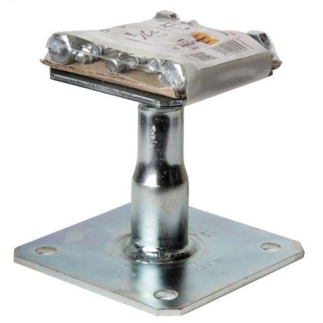 Kit pied de poteau à platine réglable KIT FIX APB 100, hauteur 100/150 mm