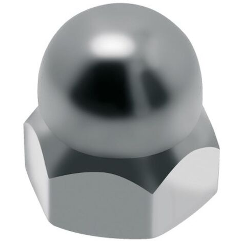 Écrous borgnes inox A4, diamètre 12 mm, boîte de 25 écrous