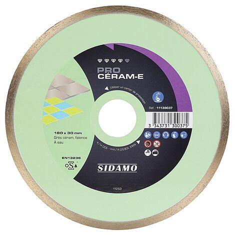 Disques diamants jante continue matériaux de décoration Pro Céram E diamètre 180 mm, épaisseur 1,8 mm, alésage 30 mm