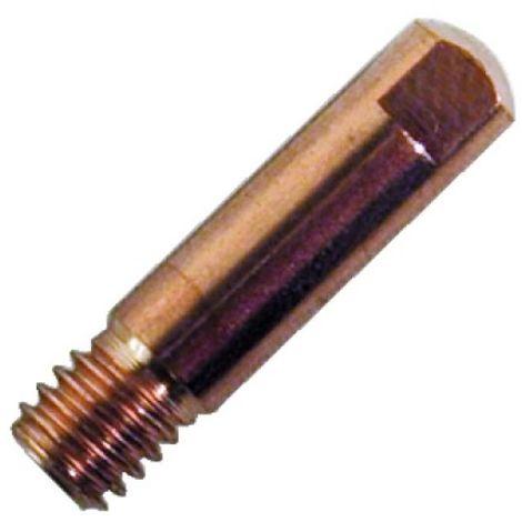 Tubes contact acier/inox Mig/Mag pour torche 150 ampères, fil Ø 0,6 mm, 10 pièces