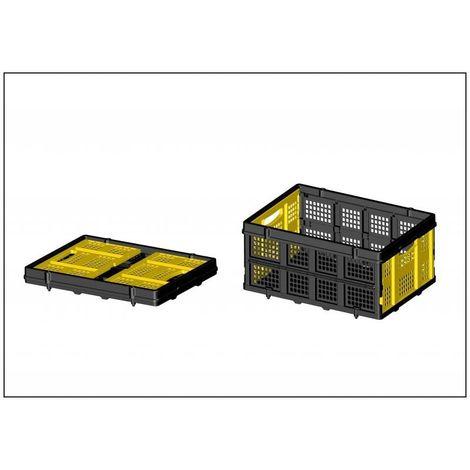 Caisse ajourée pliable, 56,8 x 41 x 27,2 cm, capacité 25 kg