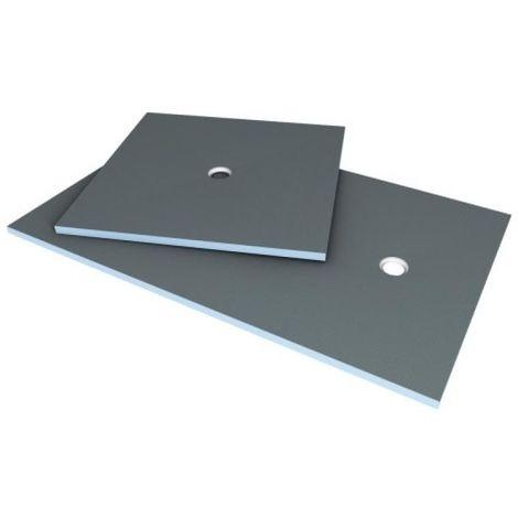 Receveur en polystyrène extrudé à carreler Primo 1200 x 900 mm à sortie excentrée