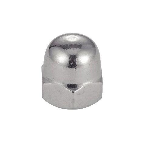 Écrous borgnes inox A2, diamètre 8 mm, boîte de 25 écrous