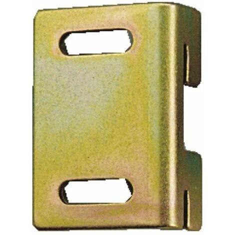 Pattes de fixation pour meubles suspendus pour crémaillères pas de 37 mm droite