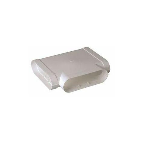 Té Minigaine blanc 90DEG horizontal équivalent D125 60x200
