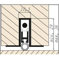 Plinthe automatique à joint silicone ultra-souple Ellen-Matic 3 longueur 73 cm