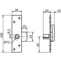 Batteuse finition inox - fouillot triangulaire de 11 mm - type EDF