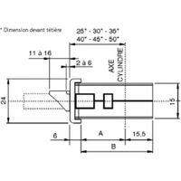 Serrure Performa 3 points axe 35 mm têtière U de 24 x 3 x 1930 mm