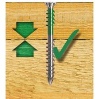 Vis terrasse bois tête cylindrique réduite double filet torx inox A4 6x50 boîte de 100 pièces
