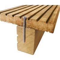 Vis terrasse bois tête réduite double filet torx inox A2, diamètre 5 mm, longueur 60 mm, boîte de 400 vis
