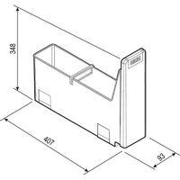 Poubelle cube 10 pour complément du cube 40 bac de 4,5l