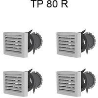 Kit de bouches pour T4 pour VMC Atlantic Duocosy HR HY - Double Flux - 4 piquages