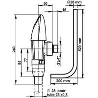 Kit de chasse N°5 avec robinetterie temporisée Presto 1000 XL - 14914