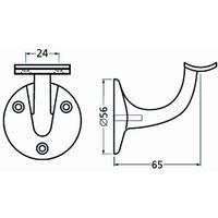Support de rampe en aluminium à support concave anodisé argent