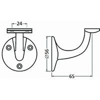 Support de rampe en aluminium à support plat anodisé argent