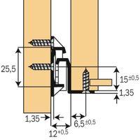 COULISSE TIROIR BLC .FR2021-50