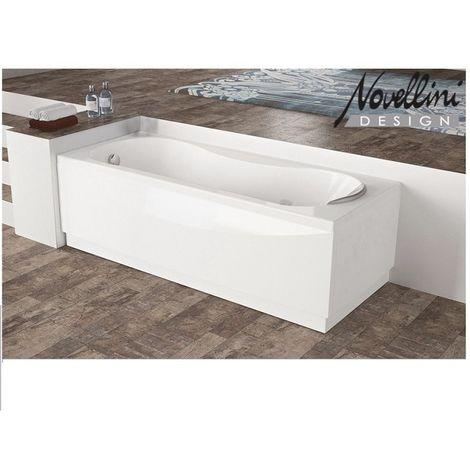 Vasca Rettangolare in Acrilico Bianco Lucido Novellini Modello Calypso cm170x70