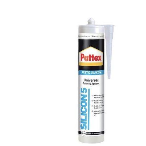 Silicone Acetico Trasparente Antimuffa Silicon5 Pattex