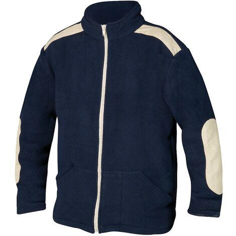 Jersey de trabajo forro polar con cremallera azul talla m