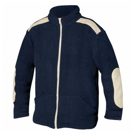 Jersey de trabajo forro polar con cremallera azul talla l