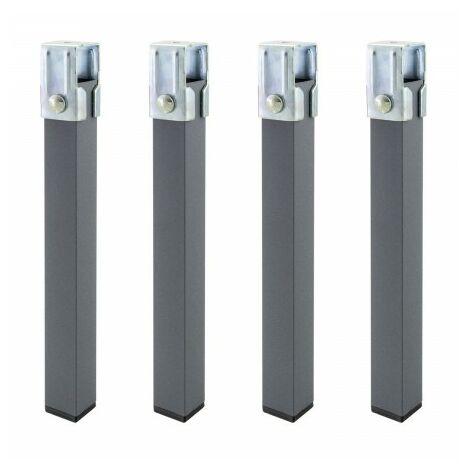 Juego patas somier cuadradas (4 unidades) tubo 30x30 mm. para somier / bastidor de 30 mm.