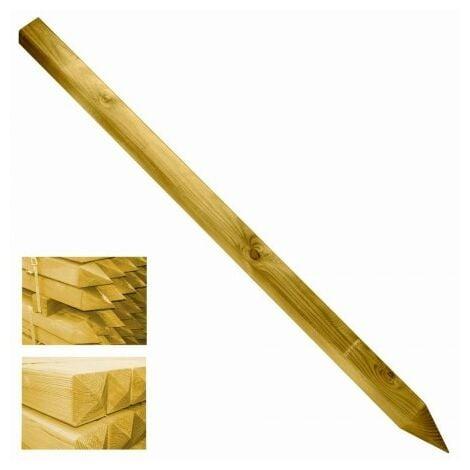Poste madera cuadrado para cancela y valla 7x7x150cm