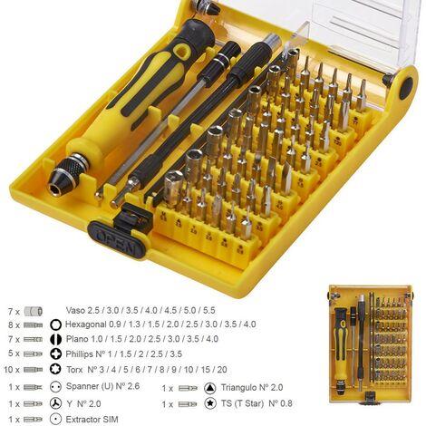 Kit herramientas reparacion smartphones 45 piezas
