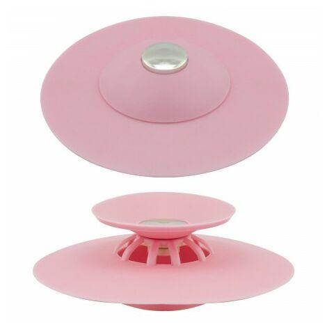 Tapón universal fregadero lavabo bañera silicona con cestillo Ø 10 cm.