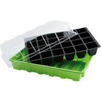 Semillero germinación invernadero 24 compartimentos con bandeja anti goteo sets de 3 piezas siembra / germinacion de plantas