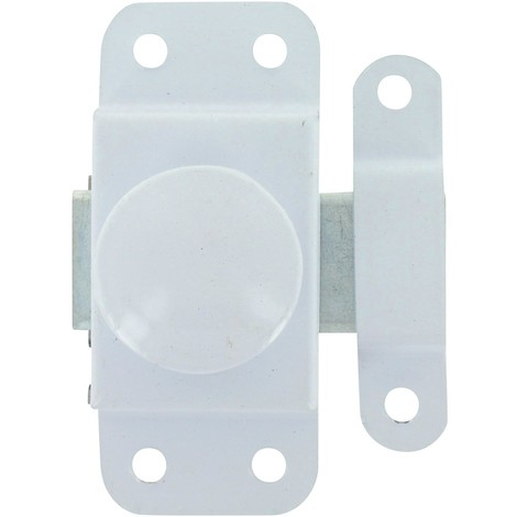 Targette bouton tournant epoxy blanc 30 epoxy blanc