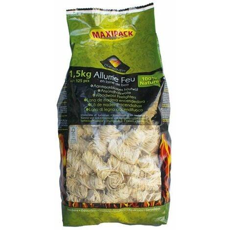 allume feu laine de bois 1,5 kg 100% végétal