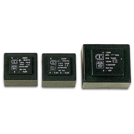 Transformateur moule 25va 2 x 24v / 2 x 0 521a