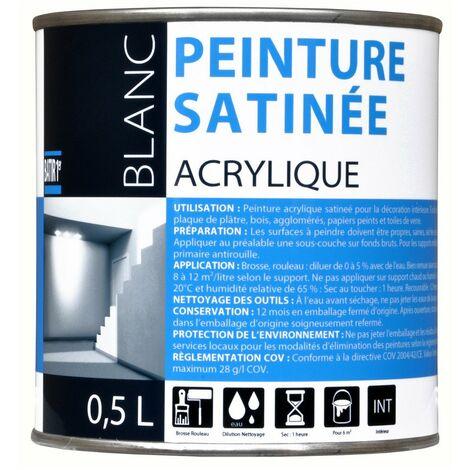 Batir 1px Peint Acryl Satin 0l5 - BATIR 1PRIX - blanc