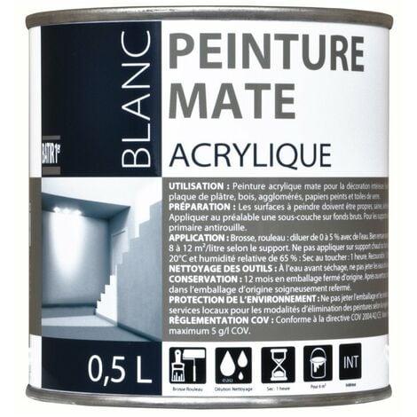Batir 1px Peint Acryl Mat 0l5 - BATIR 1PRIX - blanc