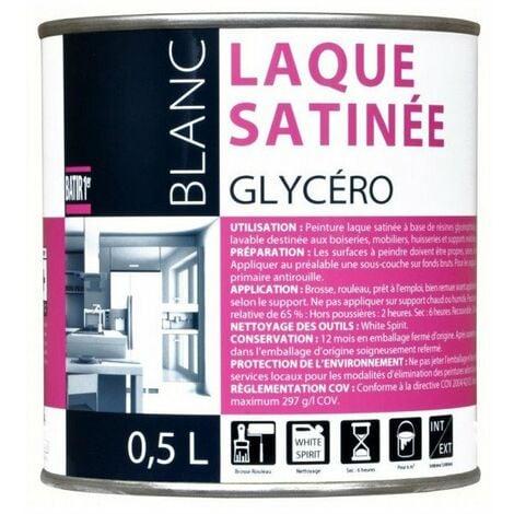 Batir 1px Laque Glycero Satin 0l5 - BATIR 1PRIX - Blanc