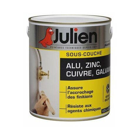 Sous-Couche Pour supports en Alu, Zinc, Cuivre, Galvanisé - aspect Mat Blanc 0,5L - Julien