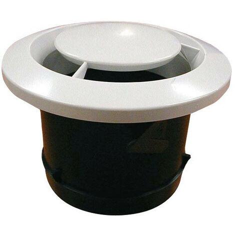 Bouche d'extraction ronde manchon plaque de platre cuisine 125