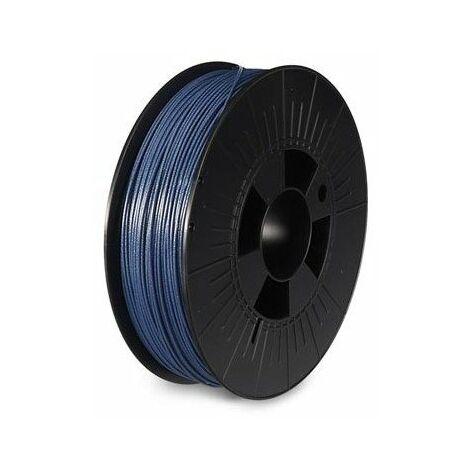 Filament pla 1 75 mm - bleu métallique - brillant - 750 g