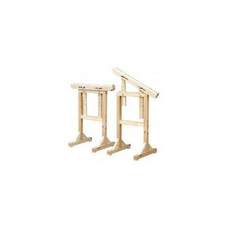 Treteau 'architecte' dimensions 680 x 720 mmhaut travail 720 à 920 mmsection 50 x 40 mmpoids 4,5 kg