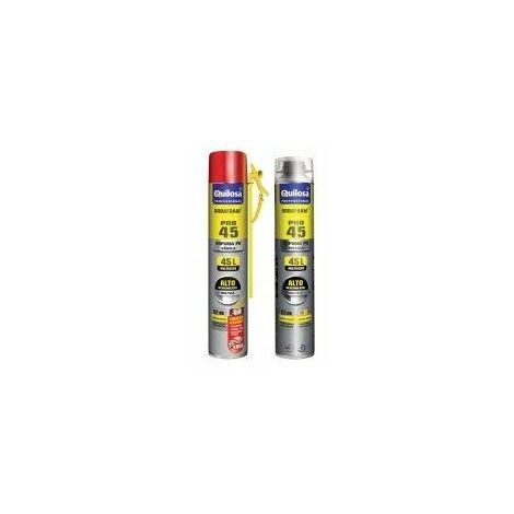 mousse expansive polyurethane - pro45 désignation aérosol 750 ml - pistoletcouleur jaune