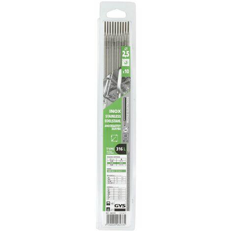 Electrode inox 10 2,5