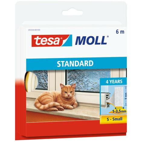 Tesa Calfeutrage pour porte et fenêtre Blanc 6m 9x4mm- TESA