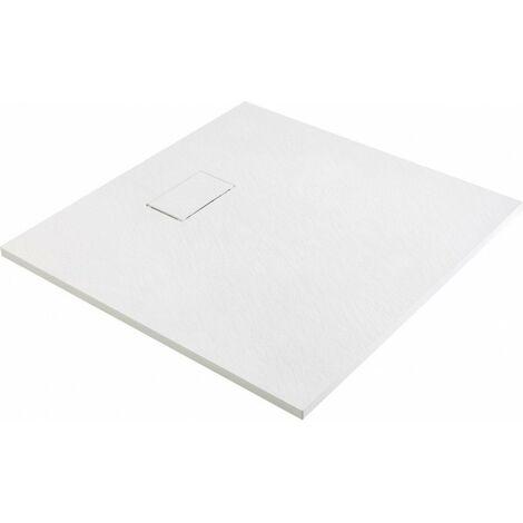 Receveur de douche effet pierre blanc 90x90 joy