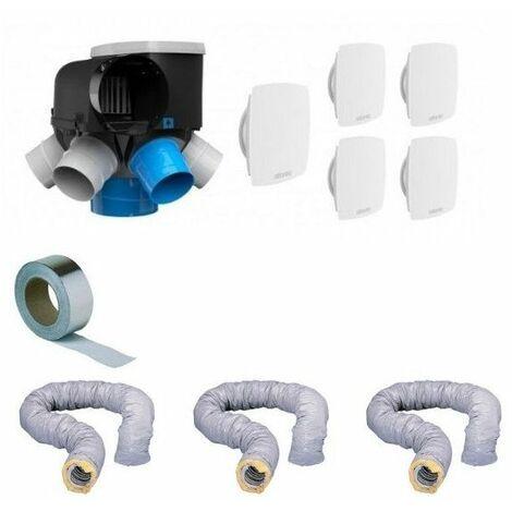 kit VMC complet avec gaines autocosy vmc auto intelligente Humidité 6 sanitaires (5 bouches line) 41